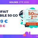 Ce forfait mobile spécial soldes d'été offre 50 Go de 4G pour 2,99 € par mois