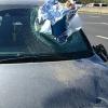 Insolite : un rougail-saucisse finit dans le pare-brise d'une automobiliste